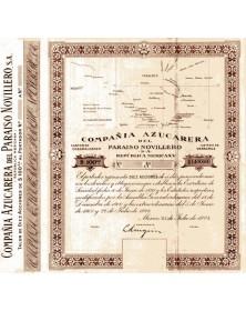 Cia Azucarera del Paraiso Novillero S.A. Republica Mexicana