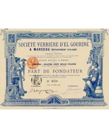 Sté Verrière d'El Gourine A Marceau (Dépt. d'Alger)