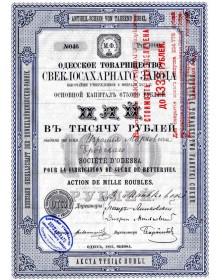 Sté d'Odessa pour la fabrication de sucre de betteraves