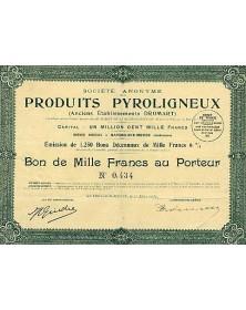 Sté des Produits Pyroligneux (Anciens Ets Dromart)