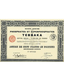 Sté des Phosphates et Superphosphates de Tebbaka