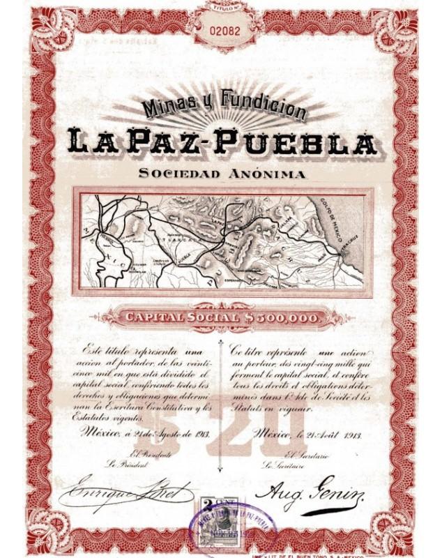 Minas y Fundicion La Paz-Puebla S.A.