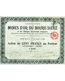 Cie des Mines d'Or du Bouré-Siéké et de l'Afrique Occidentale Française