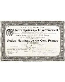 Sté Coopérative d'Architectes Diplômés par le Gouvernement