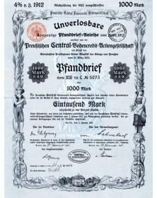 Unverlosbare 4% Pfandbrief von der Preussischen Central-Bodencredit