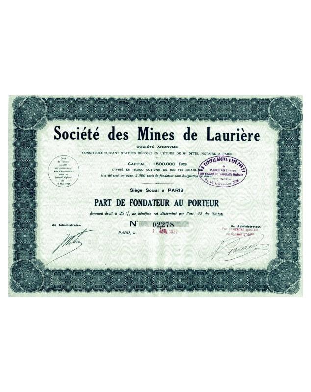 Sté des Mines de Laurière
