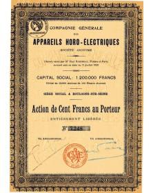 Cie Générale des Appareils Horo-Electriques