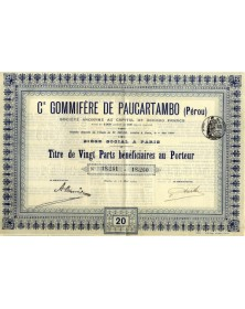Cie Gommifère de Paucartambo