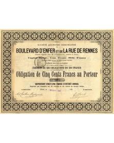 S.A. Immobilière du Boulevard d'Enfer et de la Rue de Rennes