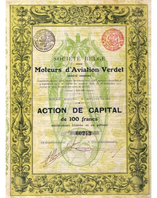 Sté Belge des Moteurs d'Aviation Verdet