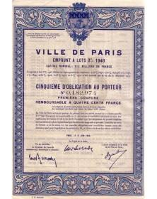 Ville de Paris - Emprunt à Lots 3% 1948