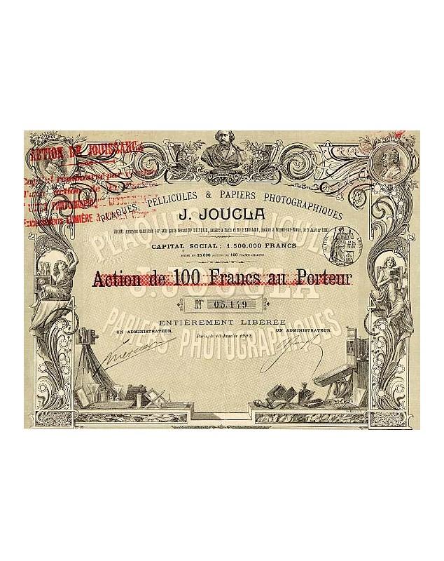 Plaques, Pellicules & Papiers Photographiques J. Joucla