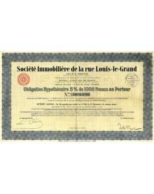 Sté Immobilière de la Rue Louis-le-Grand
