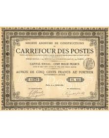 S.A. de Constructions du Carrefour des Postes
