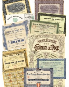 Lot of French Casinos bonds: Nice, Bandol, Royan, St-Malo,...