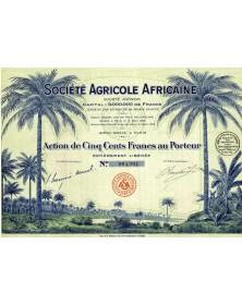 Sté Agricole Africaine