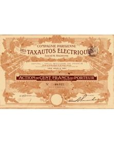Cie Parisienne des Taxautos Electriques