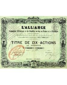 L'Alliance - Cie d'Eclairage et de Chauffage au Gaz en France et à l'Etranger, sous la raison Paul Trassy & Cie