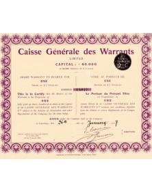 Caisse Générale des Warrants Ltd