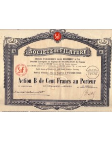 Sté de Filature - Formerly Ets Jules Desurmont & Fils Tourcoing