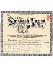 The Swadesh Laxmi Mills Ltd