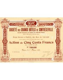 Sté des Grands Hotels de Contréxeville