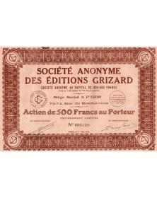 Sté Anonyme des Editions Grizard