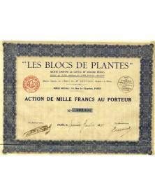 """""""Les Blocs de Plantes"""" S.A."""