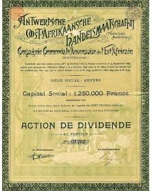 Antwerpsche Oost-Afrikaansche Handelsmaatschappij (Cie Commerciale Anversoise de l'Est Africain)