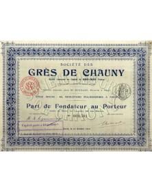 Sté des Grès de Chauny (Aisne)