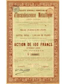 Sté Générale Franco-Belge d'Incandescence Métallique