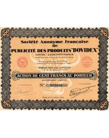 S.A. Française de Publicité des Produits ''Bovidex''