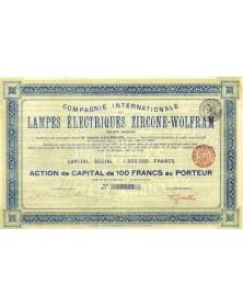 Cie Internationale des Lampes Electriques Zircone-Wolfram