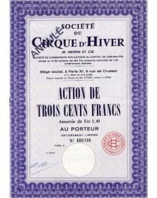 Sté du Cirque d'Hiver M. Morin et Cie