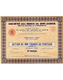 Sté des Mines de Bou-Jaber (et Sidi-Embarek)