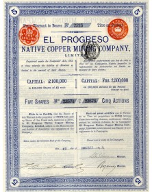El Progreso Native Copper Mining Co. Ltd.