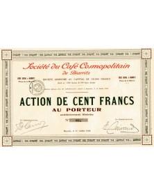 Sté du Café Cosmopolitain de Biarritz