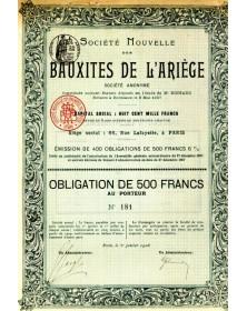 Sté Nouvelle des Bauxites de l'Ariège