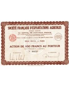 Sté Française d'Exploitations Agricoles