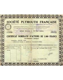 Sté Plymouth Française