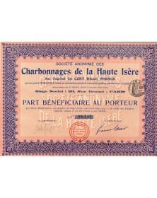 S.A. des Charbonnages de la Haute Isère