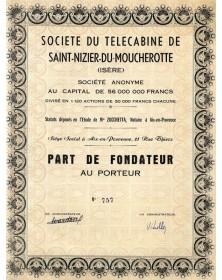 Sté du Télécabine de Saint-Nizier-du-Moucherotte (Isère)