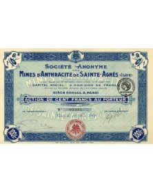 S.A. des Mines d'Anthracite e Sainte-Agnès (Isère)