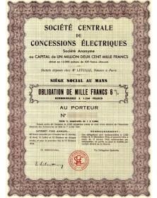 Sté Centrale de Concessions Electriques