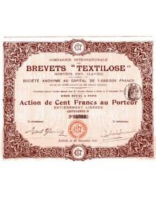 """Cie Internationale des Brevets """"Textilose"""" (Brevets Emil Claviez)"""