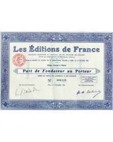Les Editions de France