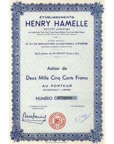 Ets Henry Hamelle