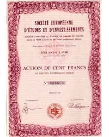 Sté Européenne d'Etudes et d'Investissements