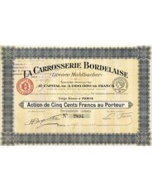 La Carrosserie Bordelaise (Licence Muhlbacher)