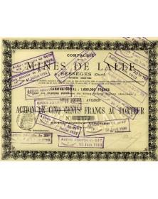 Cie des Mines de Lalle à Bessèges (Gard)
